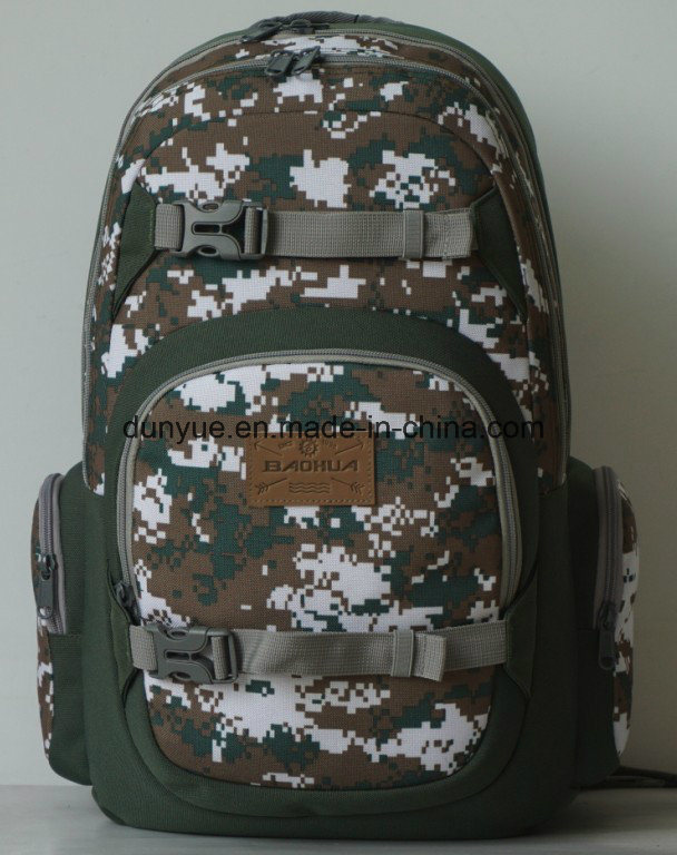 Modern Design of Nylon Computer Backpack, Tactical Ourdoors Camouflage Colour Laptop Backpack Bag for Teenagers