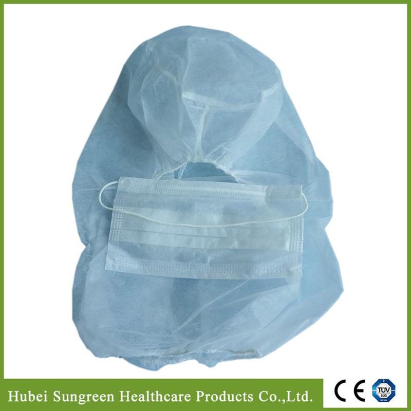 Disposable Non-Woven Balaclava Hood, Head Cover with Face Mask