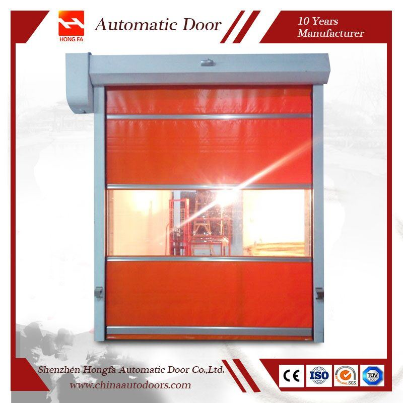 PVC Industrial Fabric High Speed Roll up Door with Ce Certification (HF-K05)
