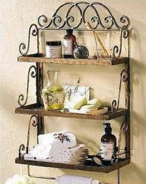 Decorative Wall Shelves For Bathroom : Wrought iron wall decor ideas