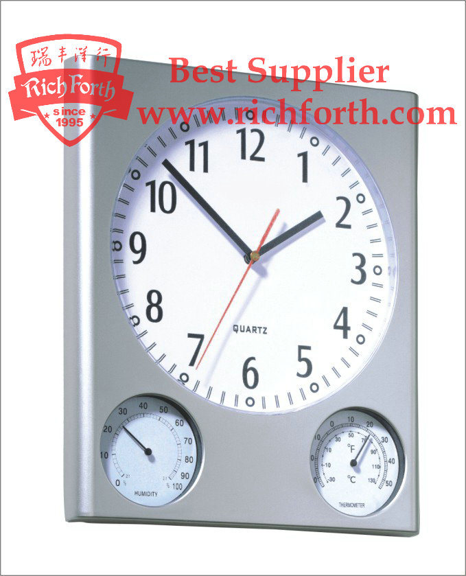 wall clock with temperature and humidity china wall clock weather