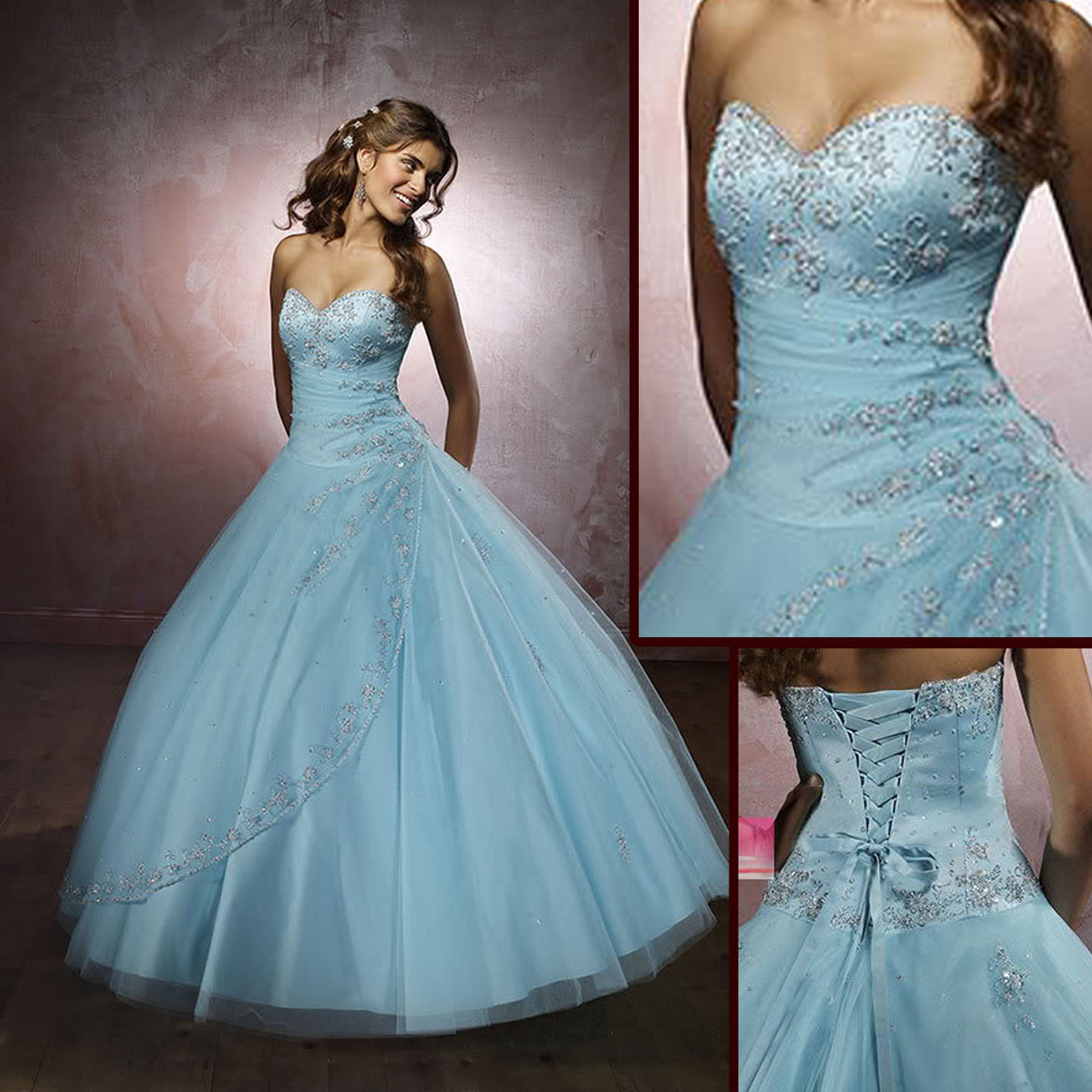 China light blue prom party dress rs 117 china prom for Light blue dress for wedding