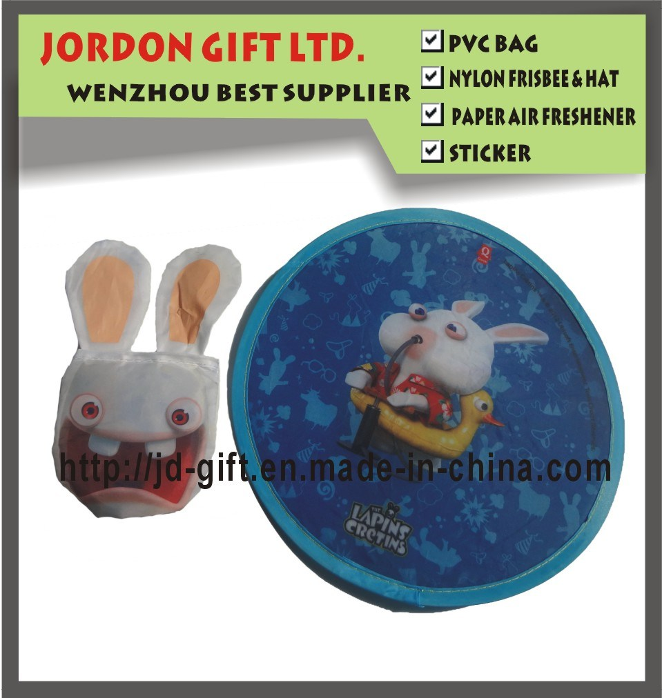 Cheap Promotional Polyester Frisbee with Rabbit Pouch