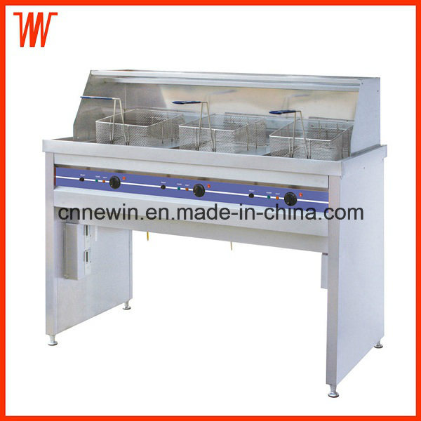 58+58+58L Electric Chips Deep Fryer Industrial