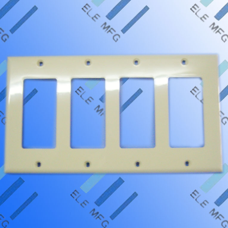 China wall plate for gfci and decorative switch 4 gang 4 decorator china ul electric panel - Decorative wall plates electrical ...