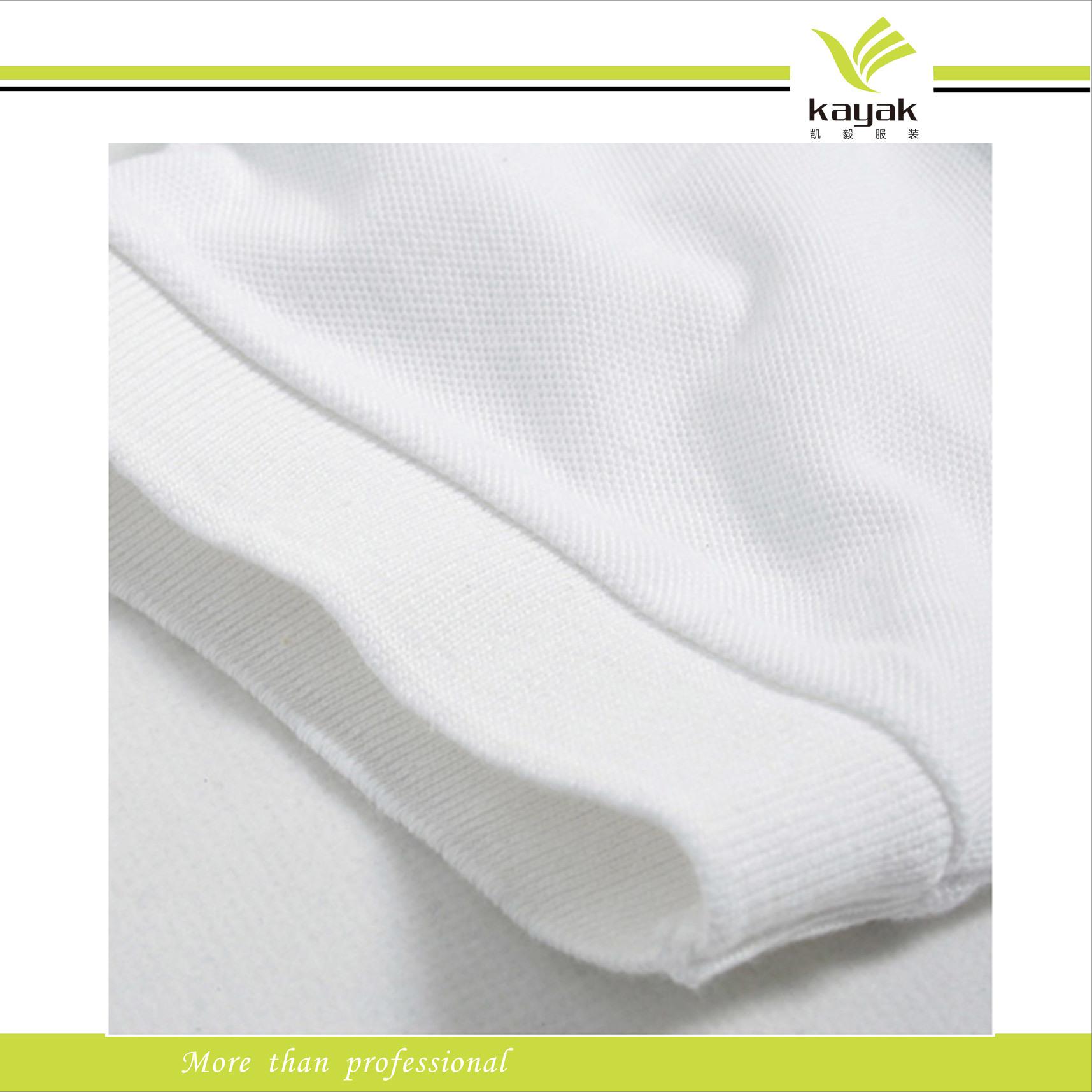 China White Pique Fabric Cotton Polo T Shirt China Pique