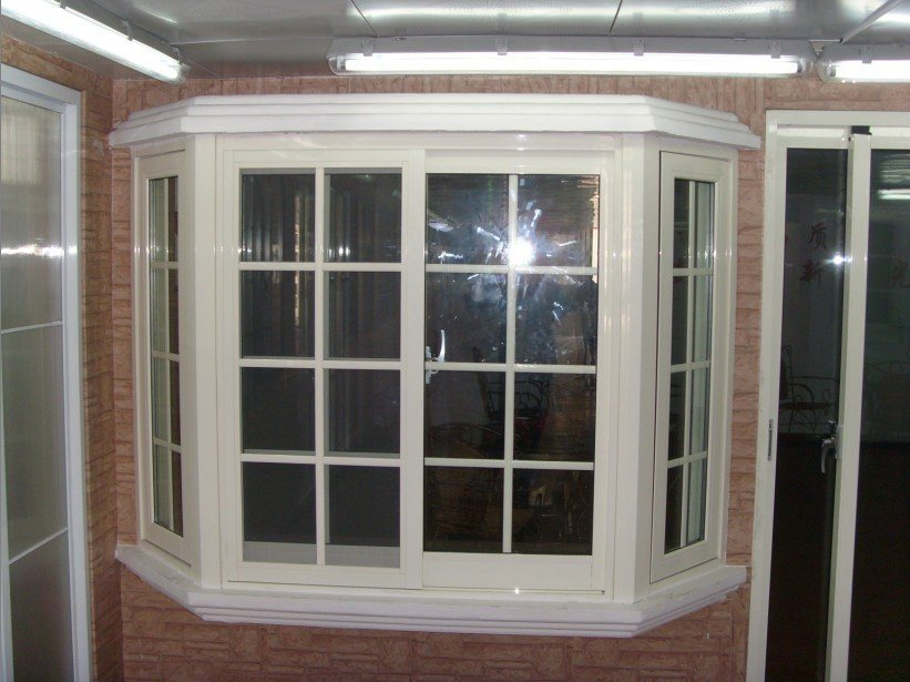 China vinyl bay window ts 169 photos pictures made for Vinyl bay window
