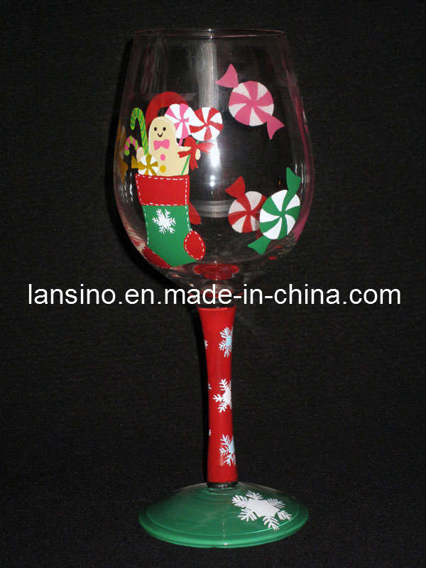 The information is not available right now for Hand painted wine glass christmas designs