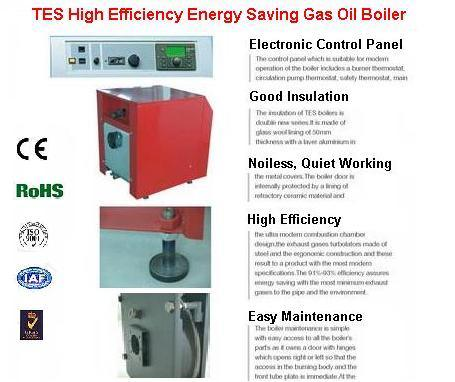 China Energy Saving Gas Oil Fired Hot Water Heating Boiler