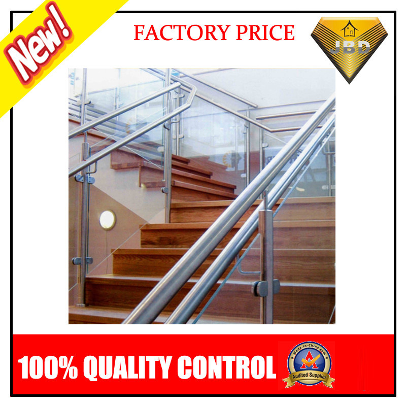 Stainless Steel Stair Balcony Balustrade with Glass or Pipe (JBD-B002)