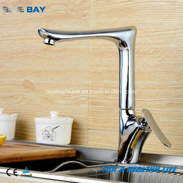 Long Neck Beauty Salon Bathroom Brass Kitchen Sink Faucet