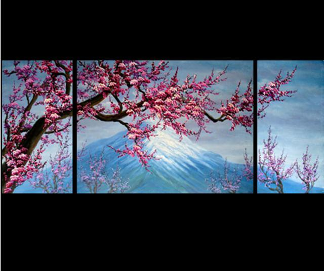 Chinese cherry blossom painting image search results for Cherry blossom mural works