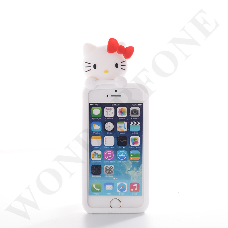 Mobile Phone Silicon Animal Case Cover for iPhone
