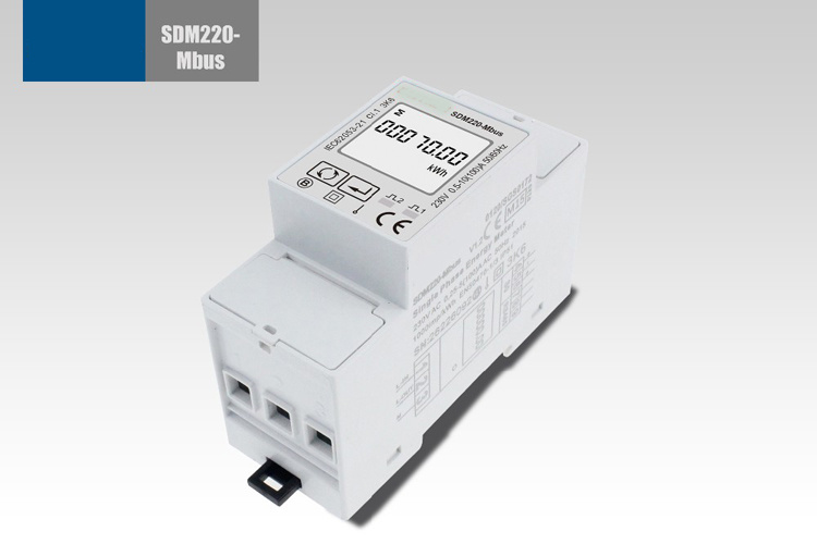 Single Phase DIN Rail Type Household Watt-Hour Power Meter Sdm220-Mbus