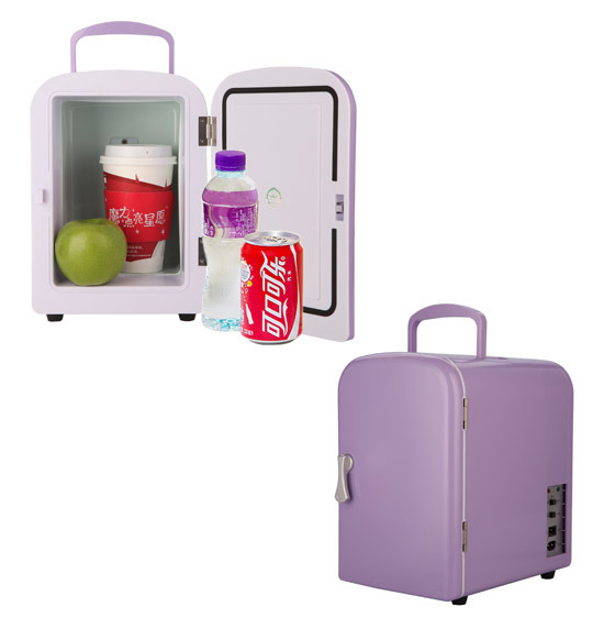 Electronic Mini Fridge 4liter DC12V, AC100-240V in Both Cooling and Warming for Car or Home, Office Use