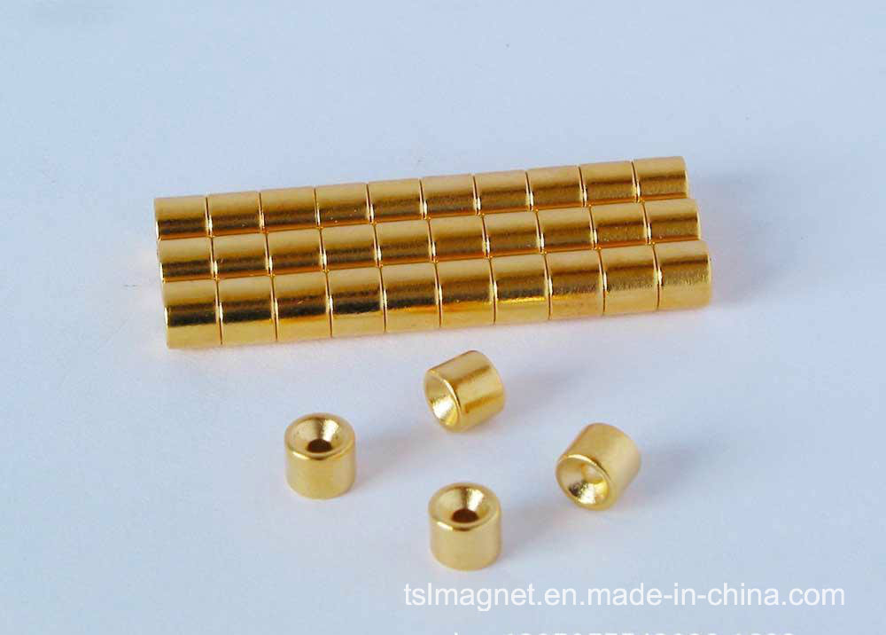 Plating Gold Permanent Sintered Neodymium/NdFeB Magnet