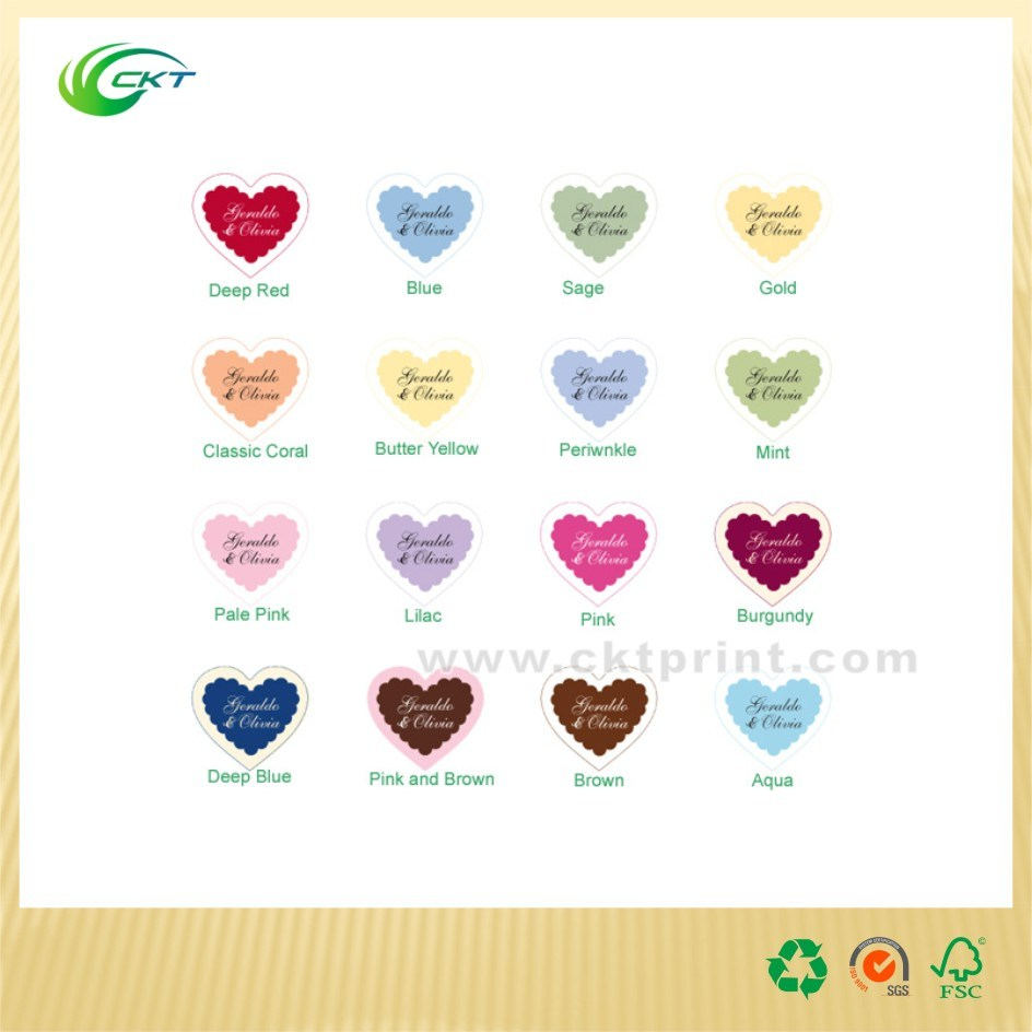 Self-Adhesive Stickers Colorful Labels Printing (CKT-LA-424)
