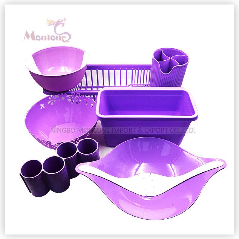 Set of 6 Kitchen Implements (Salad Tools/Chopsticks Holder/Waste Bin/Kitchen Racks