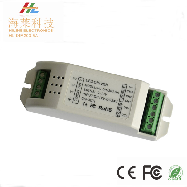 0/1-10V 5A*3channels LED Dimming Driver