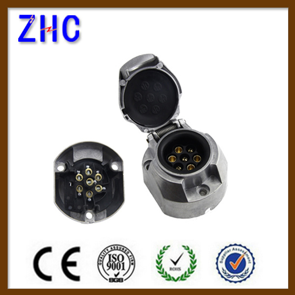 Electrical Power Adapter Waterproof 7 Pin European Adapter Trailer Plug & Socket