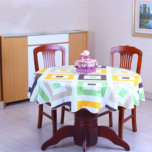 Colored Designed Plastic PVC Table Cloth