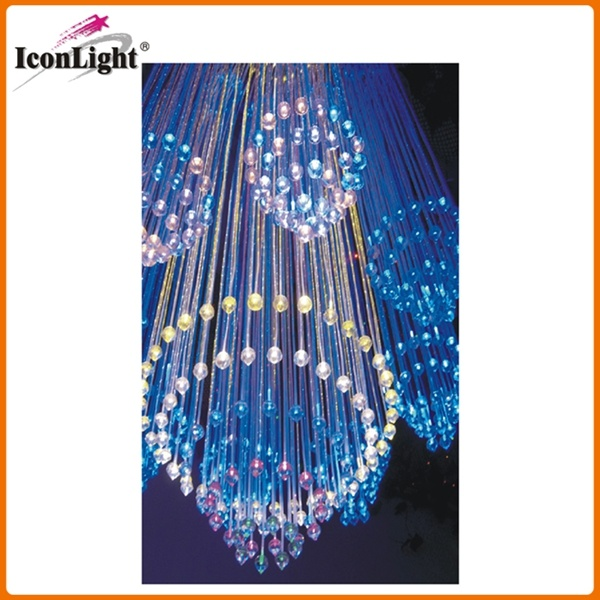 China Hot Sell Fiber Optic Chandelier with Crystal (ICON-FC-07 ...