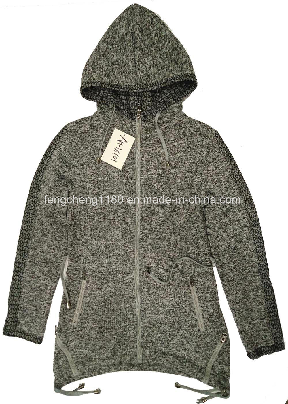Woman Spring/Autumn Zipper Hooded Coat/Jacket