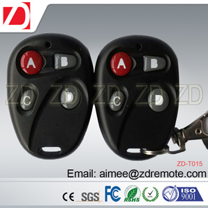 4 Button Plastic Univeral Copy Remote Control for Fix Code for Garage Door