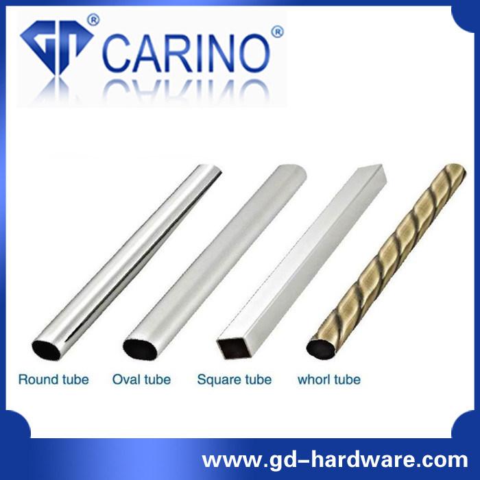 Closet Wardrobe Tube Rail Circular Flange Hanger; Iron or Zinc Alloy Tube Base Plate *Iron Holder