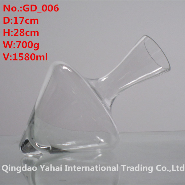1580ml Clear Colored Glass Decanter