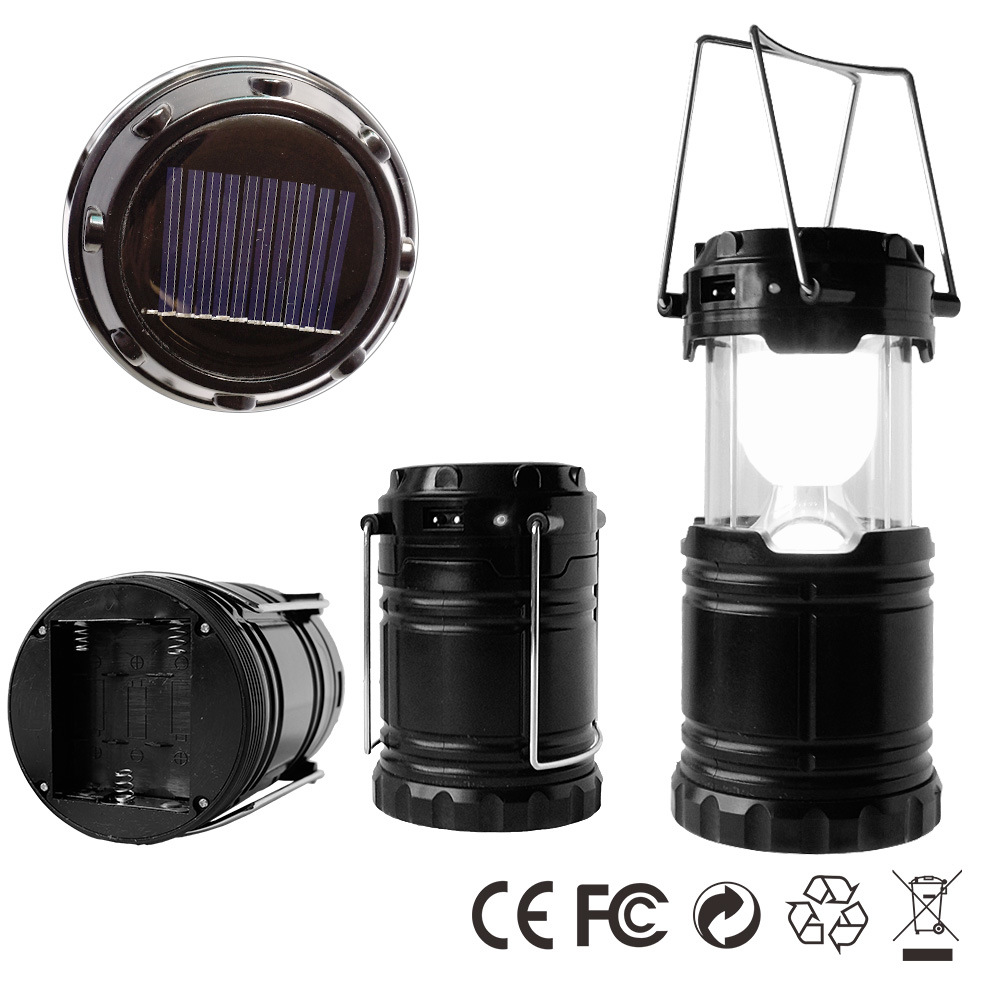 Ce FCC Emergency Outdoor Portable LED Solar Camping Lantern Lamp