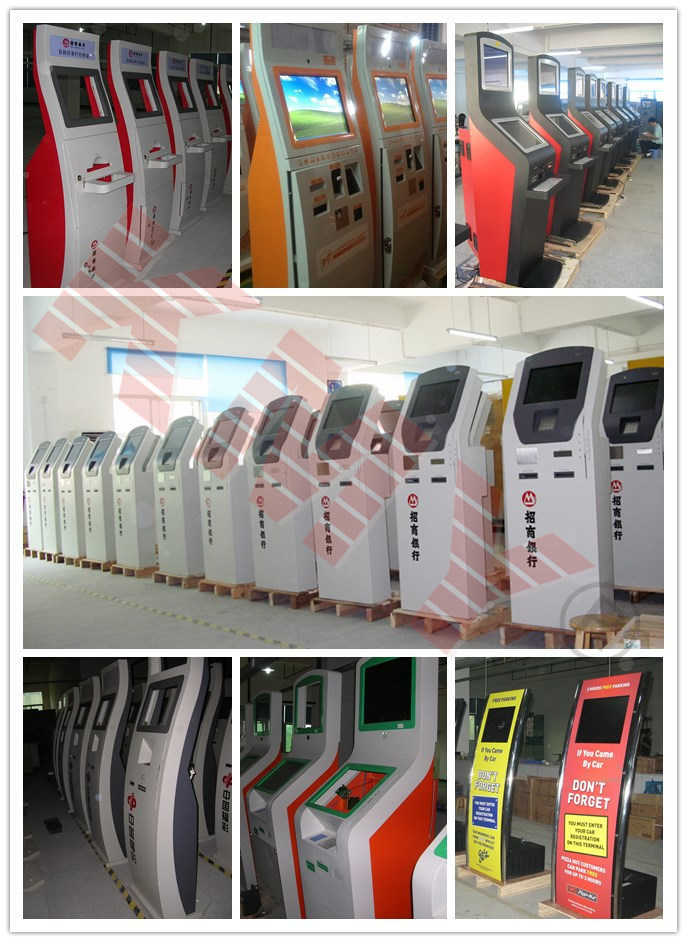 Touch Screen Bill Payment Kiosk/Ticket Vending Kiosk with Bill Acceptor and Card Reader
