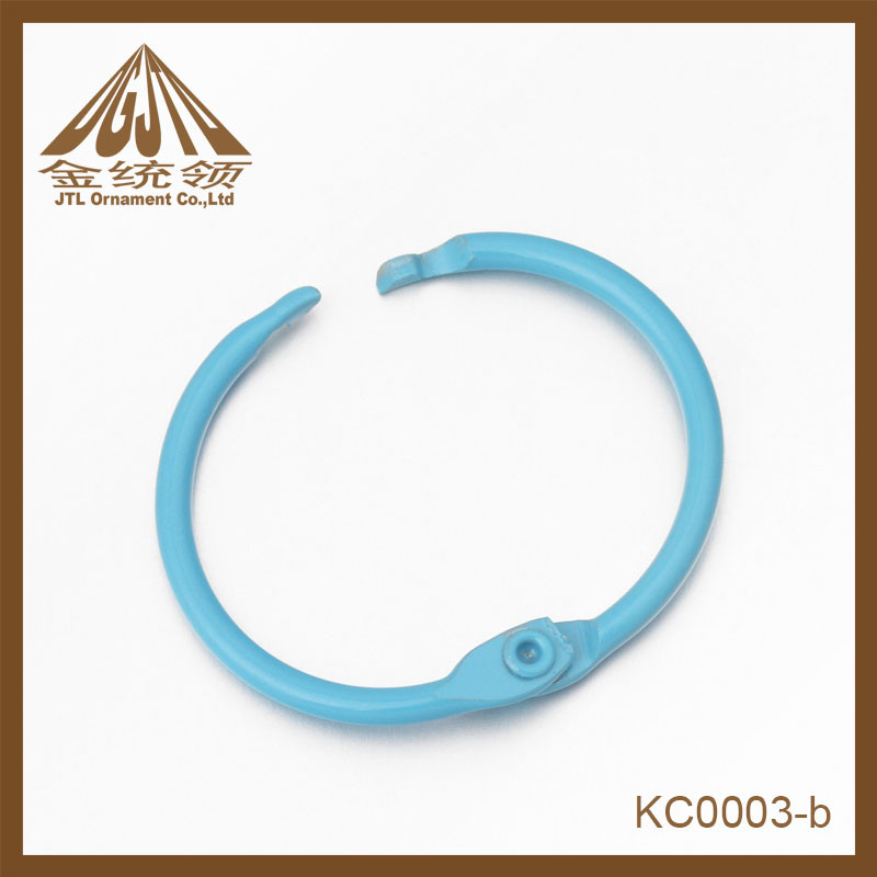 Fashion Nice Quality Light Blue Binder Ring Clips Wholesale