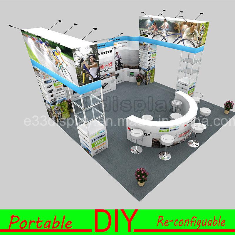E33 Aluminium Portable Modular Trade Show Exhibition Booth Stand Material
