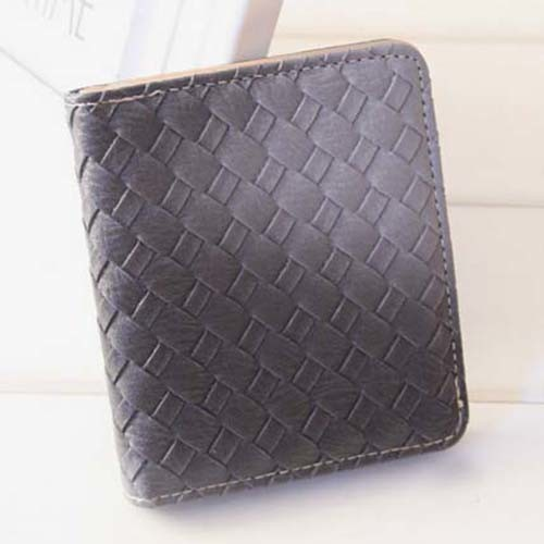 Purse Solid Color Weave Fashion Wallet (XQ0525)