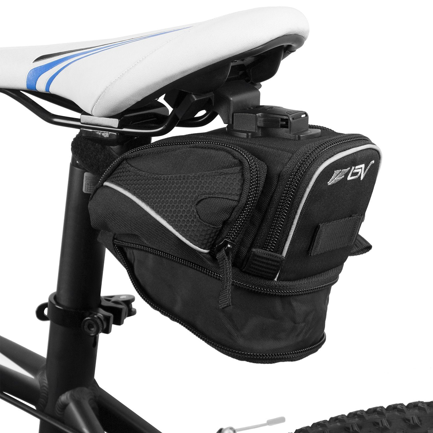 Outdoor Bicycle Clip-on Expandable Saddle Seat Bag