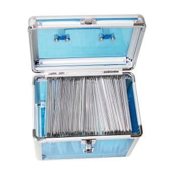 Aluminum Frame Acrylic Panel CD Case
