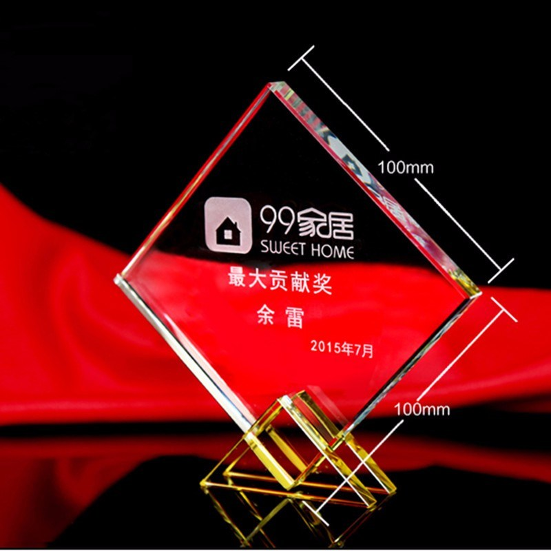 Professional Handmade Excellent Crystal Trophy Champion Awards