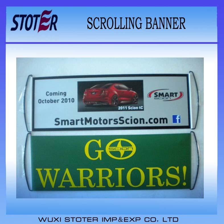 Promotion Scrolling Fan Hand Flag/Banner