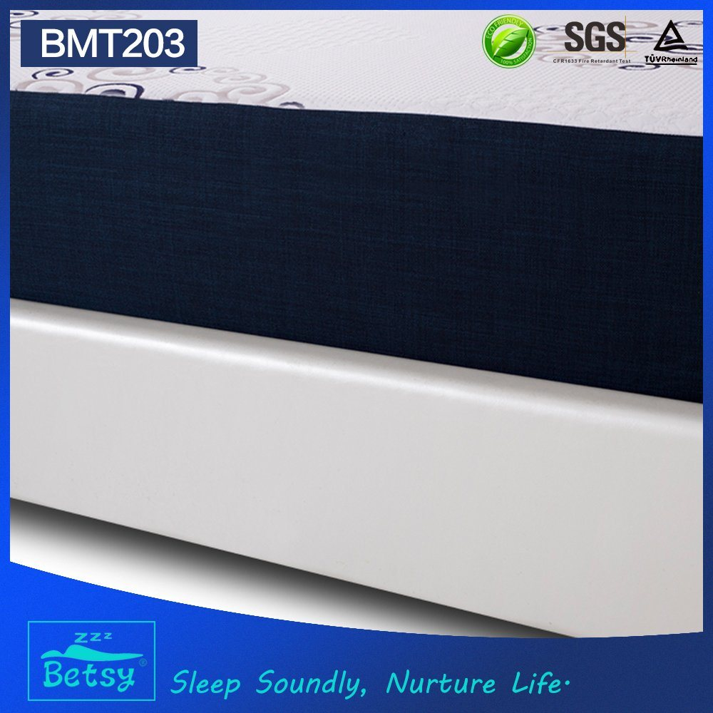 OEM Resilient Cheap Sponge Mattress 25cm High with Gel Memory Foam and Knitted Fabric Zipper Cover