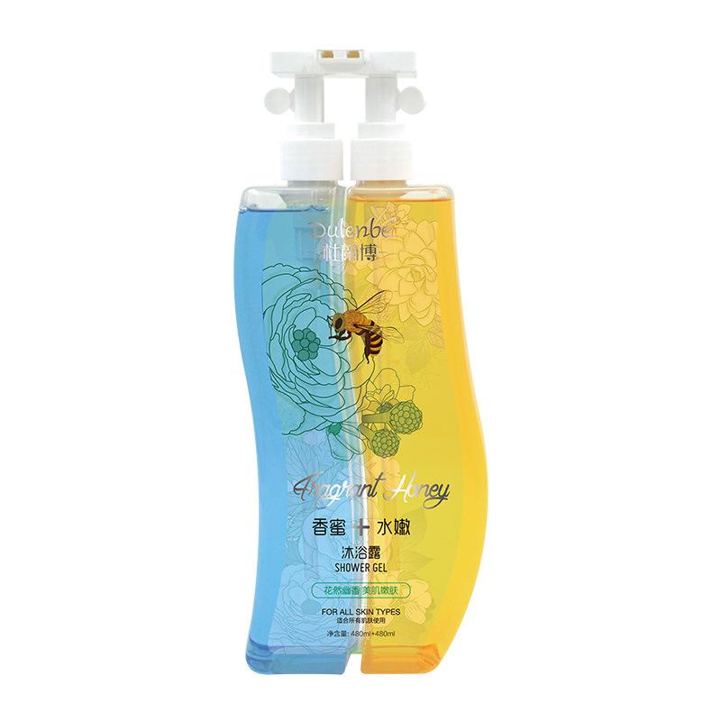 Dulenbe Body Care Honey & Soft Shower Gel 480ml+480ml