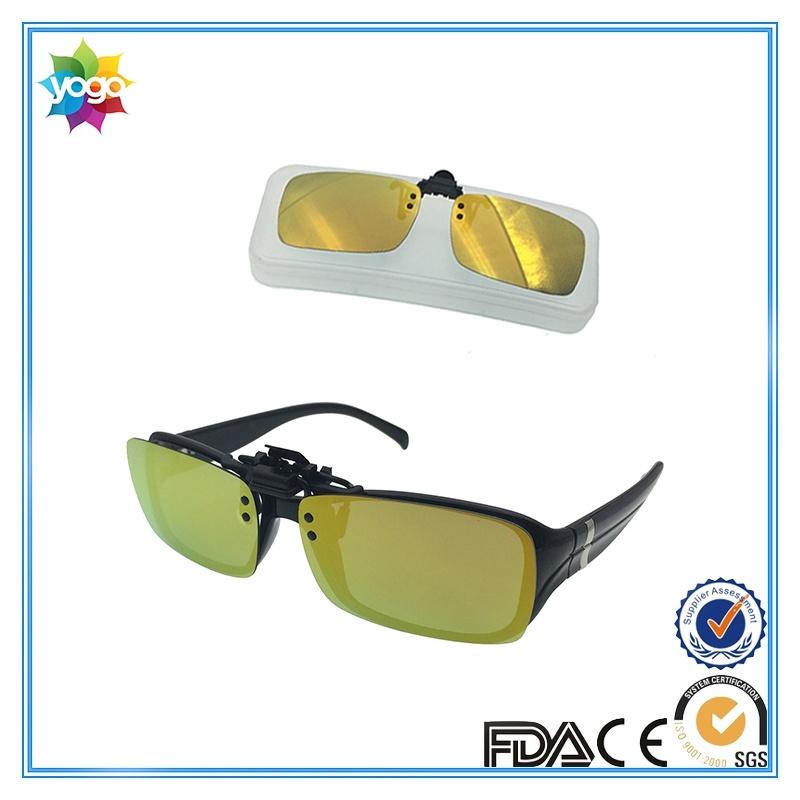 Designer Polarized Mirror Lens Clip on Sunglasses for Optical Glasses