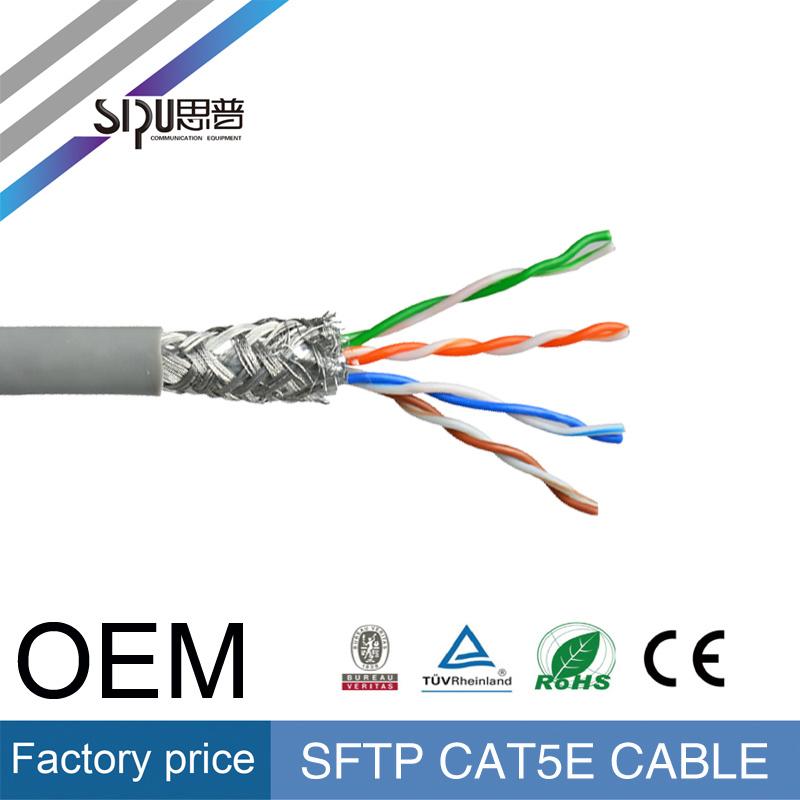 Sipu Ce Copper SFTP LAN Cable Wholesale Cat5e Network Cable