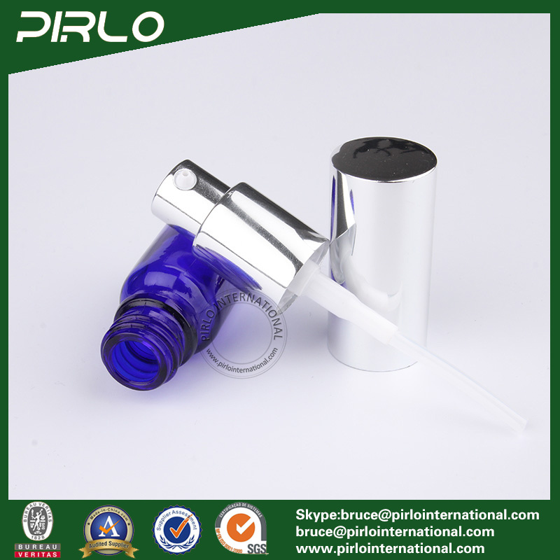 Cobalt Blue Bottles with Silver Pump and Cap