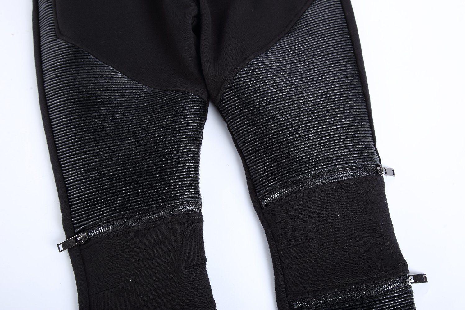 Fashion Elastic Waist Zipper Pants