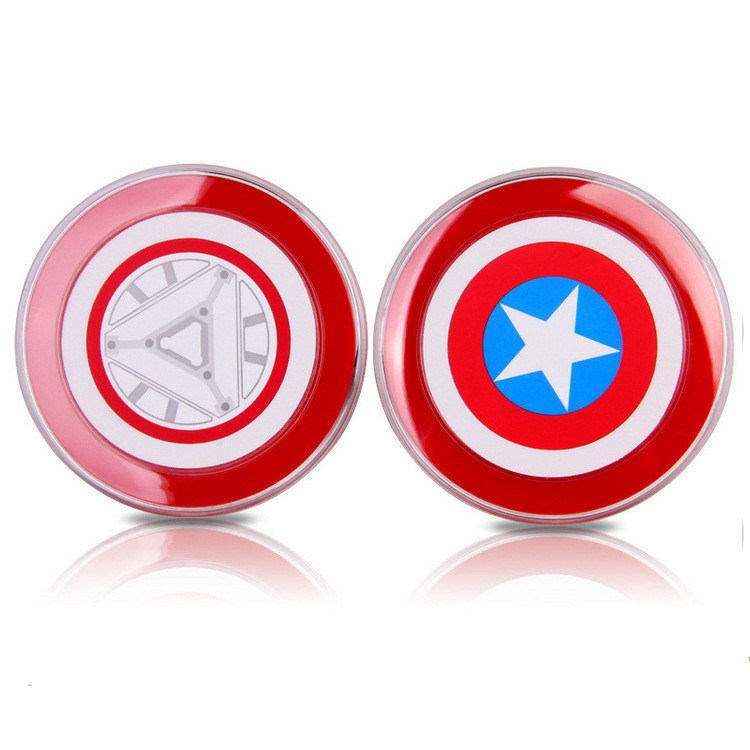 Avengers Captain American Qi Standard Wireless Charger Pad for Samsung