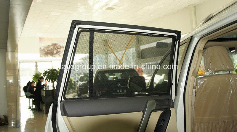 Steel Wire Framed Mesh Fabric Sunshade for Prado