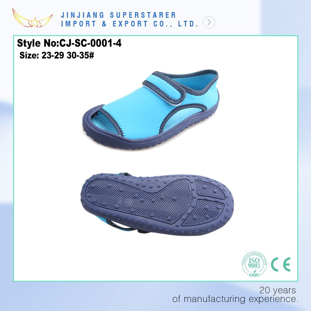 Factory Supply Latest Model New Design Blue Kids EVA Sandal