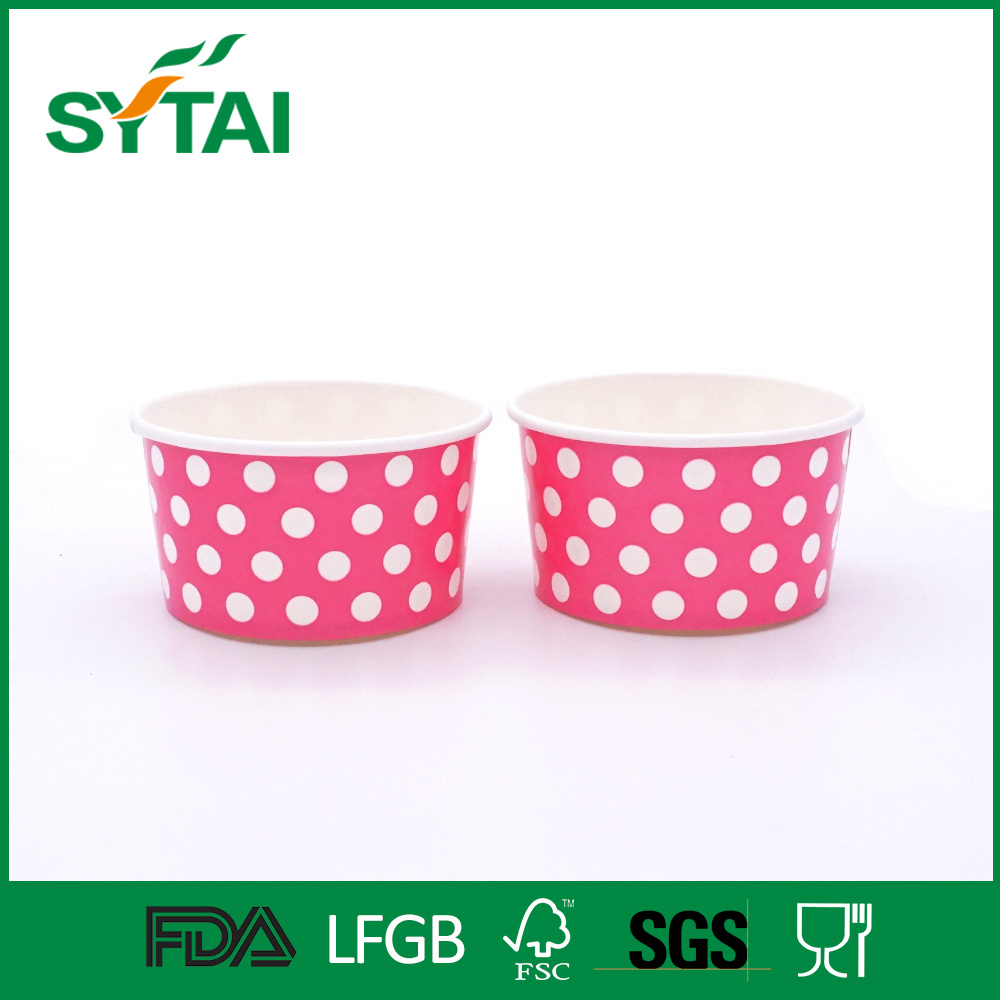 Custom Design Double PE Coated Disposable 5oz Ice Cream Paper Cups