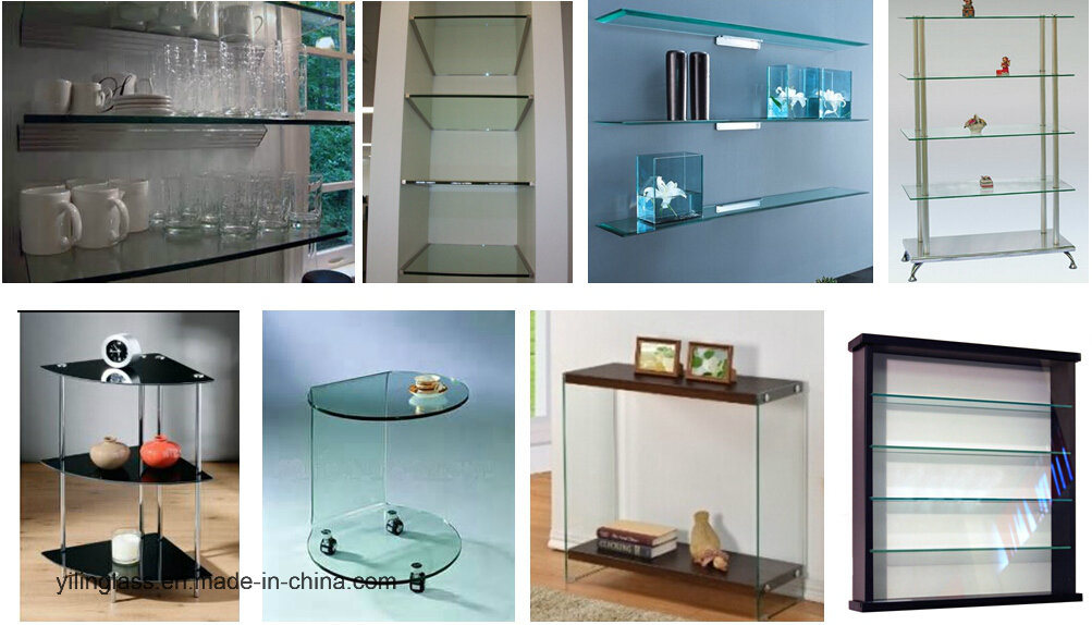 Tempered Wall Shelf Glass with ANSI Ce Certificate